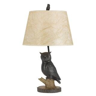 Bronze Resin 100-watt Owl Table Lamp