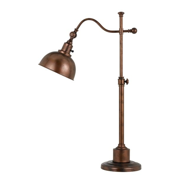 Red/Brown Copper-finished Metal Table Lamp