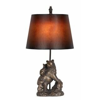 Bronze Resin Bear 100-watt Table Lamp