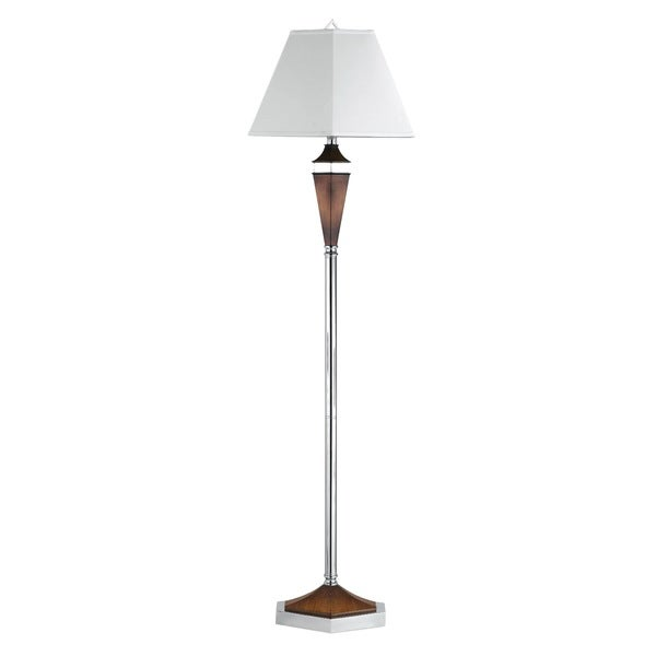 White Metal Contemporary Single-style Floor Lamp