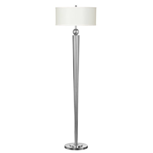 Chrome Metal 100-watt Floor Lamp with Pusj Switch