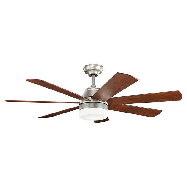 Shop kichler lighting ellys collection 56 inch brushed nickel led kichler lighting ellys collection 56 inch brushed nickel led ceiling fan brushed nickel aloadofball Image collections