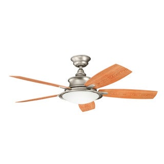 Kichler Lighting Cameron Collection 52-inch Brushed Nickel Ceiling Fan w/Light - Brushed nickel