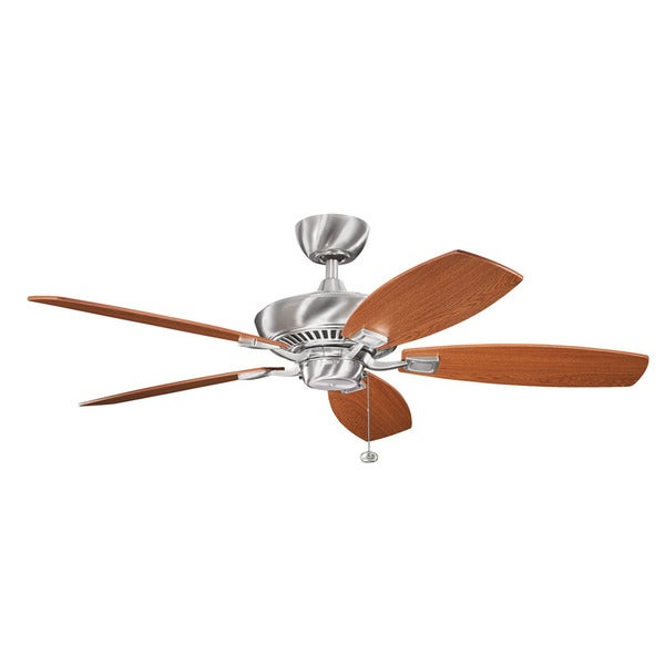 Kichler lighting canfield collection 52 inch brushed stainless steel kichler lighting canfield collection 52 inch brushed stainless steel ceiling fan brushed stainless steel mozeypictures Images