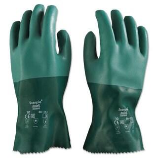 AnsellPro Scorpio Neoprene Gloves, Green, Size 10, 12 Pairs