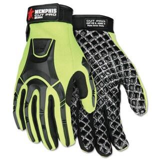 Cut Pro MC500 Gloves, High Vis Lime/Black, Medium