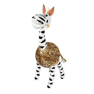 Lovely Zebra Coconut Shell Handmade Figurine Sculpture (Thailand)