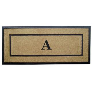 Coir Fiber/Rubber Frame 24-inch x 57-inch Monogrammed Mat