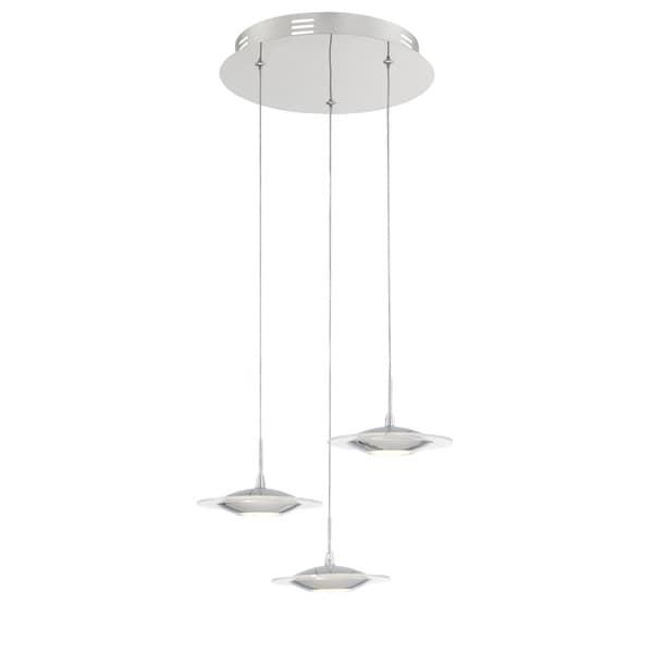 Lite Source 3-Light LED Fruma Pendant Lamp