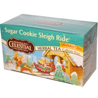 Celestial Seasonings Sugar Cookie Sleigh Ride Herbal Holiday Tea Bags (Case of 20)
