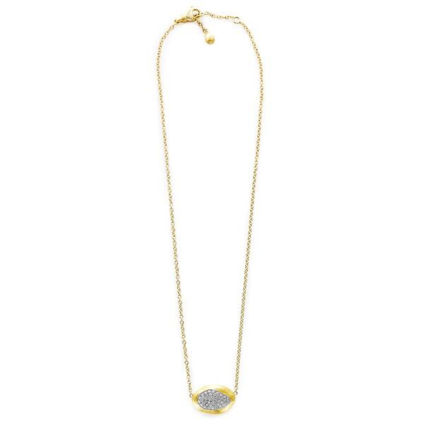 18k Yellow Gold 3/5ct TDW Diamond Florentine Bean Pendant Estate Necklace (G-H, VS1-VS2)