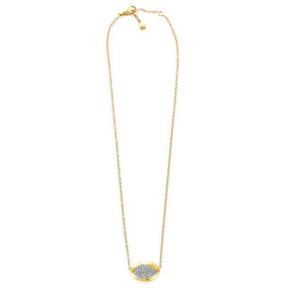 18k Yellow Gold 3/5ct TDW Diamond Florentine Bean Pendant Estate Necklace (G-H, VS1-VS2)
