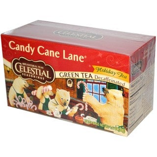 Celestial Seasonings Candy Cane Lane Decaf Green Holiday Tea