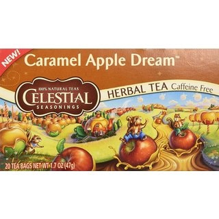 Celestial Seasonings Caramel Apple Dream Herbal Holiday Tea Bags (Case of 20)