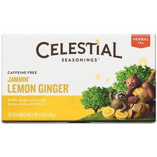Celestial Seasonings Jammin' Lemon Ginger Herbal Tea (20-count Box)