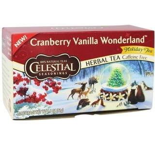 Celestial Seasonings Cranberry Vanilla Wonderland Herbal Holiday Tea (20-count)