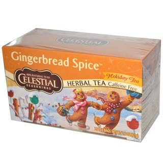 Celestial Seasonings Gingerbread Spice Herbal Holiday Tea (Box of 20)