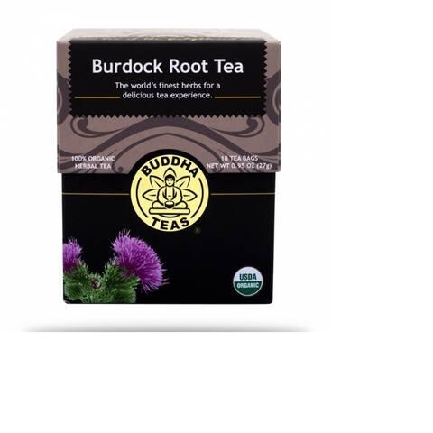 Buddha Teas Organic Kosher Burdock Root Tea (Case of 18)