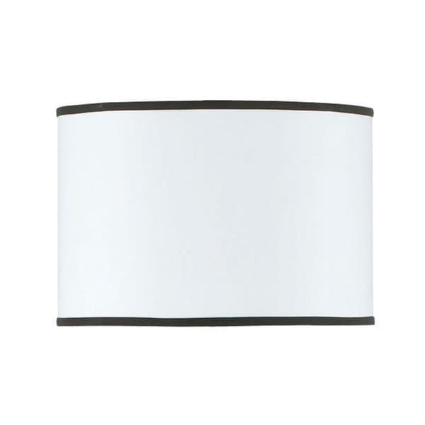White Fabric Hardback Drum Shade