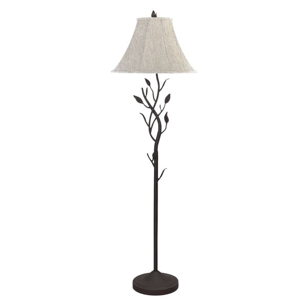 Black Metal Hand-forged Iron150-watt 3-way Floor Lamp