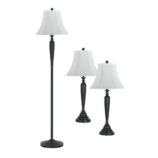 Table and Floor Lamp 3 Pieces Set