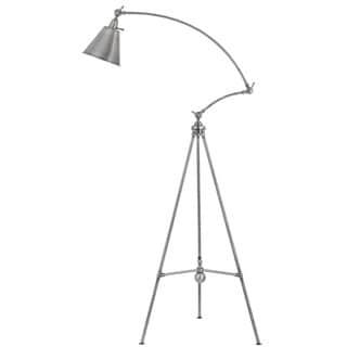 Merton Grey Metal Adjustable Tripod Floor Lamp With Metal Shade