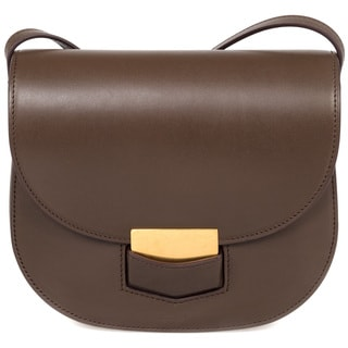 Celine Trotteur Small Brown Calfskin Leather Crossbody Handbag