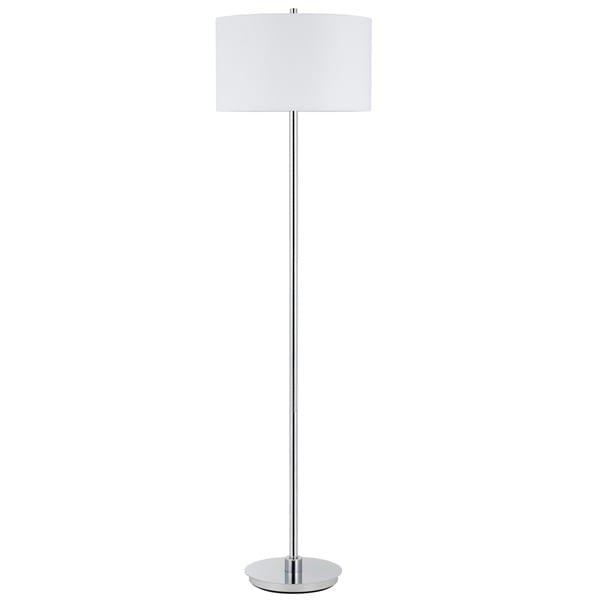 150W 3 way Halle metal floor lamp with hardback fabric shade