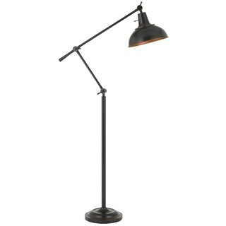 Eupen 100-watt Metal Adjustable Floor Lamp with Metal Shade in Bronze Finish
