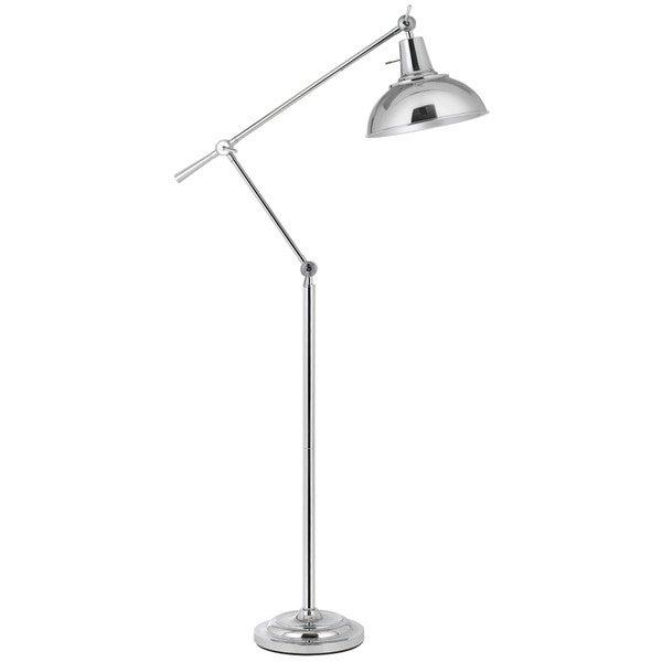 100w Eupen Metal Adjule Floor Lamp With Shade In Chrome