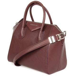 Givenchy Antigona Small Matte Burgundy Leather Satchel Handbag