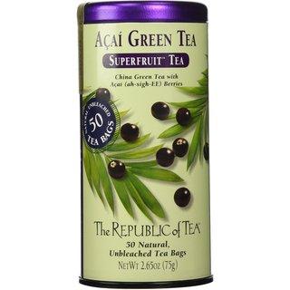 The Republic of Tea Superfruit Tea 50-count Acai Green Tea Bags