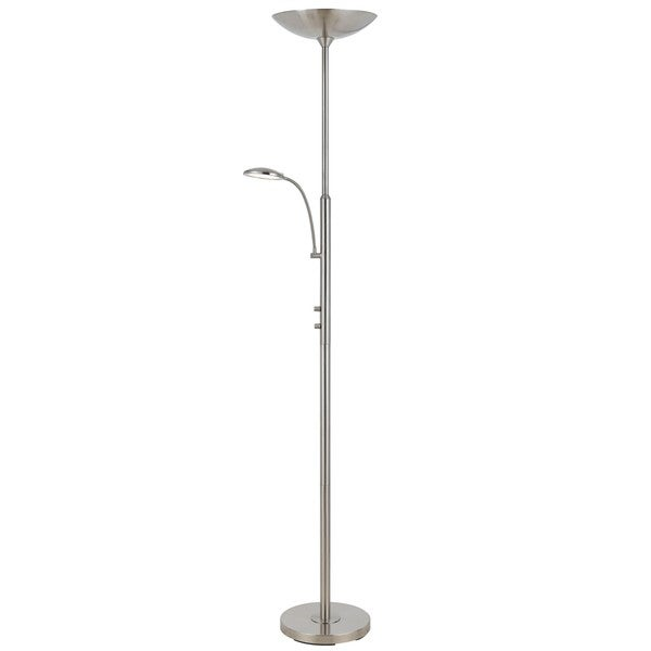 38-watt LED Torchiere with Reading Lamp