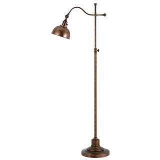 Portico Brown Metal 60-watt Floor Lamp