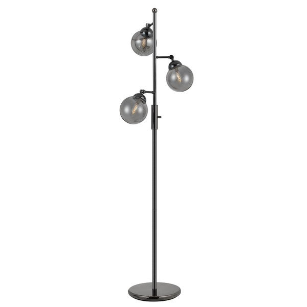 Prato Grey Metal 3-light Floor Lamp