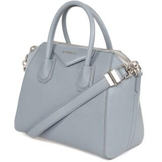 Givenchy Antigona Small Matte Blue-Grey Leather Satchel Handbag