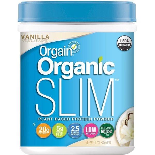 Orgain Organic Slim Plant Based Protein Powder Vanilla Bean 1 02 Lbs