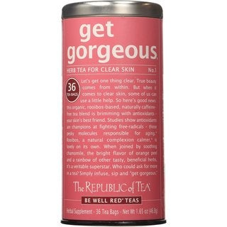 The Republic of Teas Be Well Red Teas Get Gorgeous No. 1 Herb Tea for Clear Skin (36 Count)