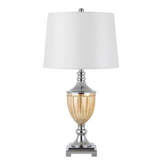 Derby Metal/Glass 3-way 150-watt Table Lamp Pair