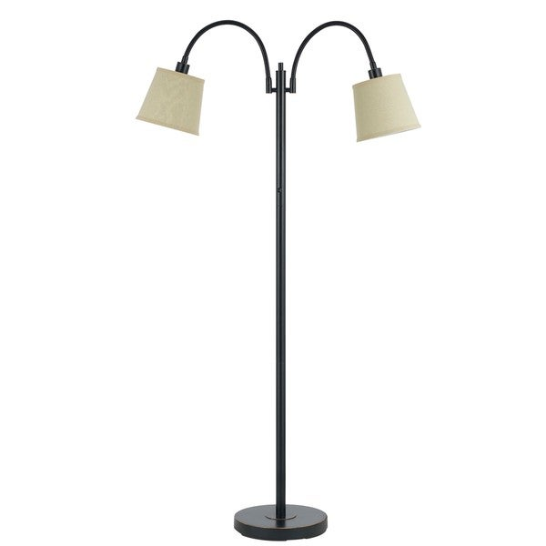 Gail Brown Metal 2-light 40-watt Goose Neck Floor Lamp