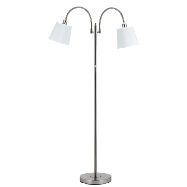 Gail Brushed Steel Metal 40-watt 2-light Gooseneck Lamp