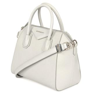 Givenchy Antigona Small Matte Light Grey Leather Satchel Handbag