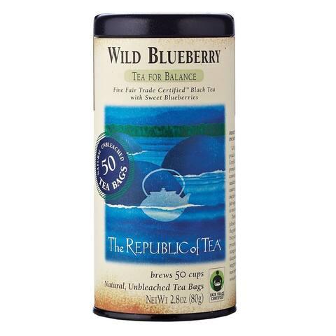 The Republic of Tea Tea for Balance Wild Blueberry Black Tea (50 Count)