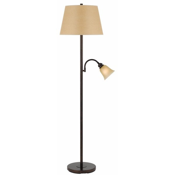 Oxidized Finish Metal Floor and Reading Lamp