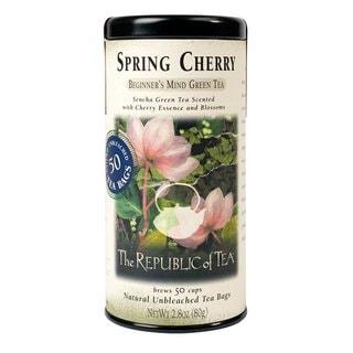 The Republic of Tea Spring Cherry Beginner's Mind Green Tea (Case of 50)
