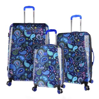 Travelers Club Paisley 3-piece Expandable Hardside Spinner Luggage Set