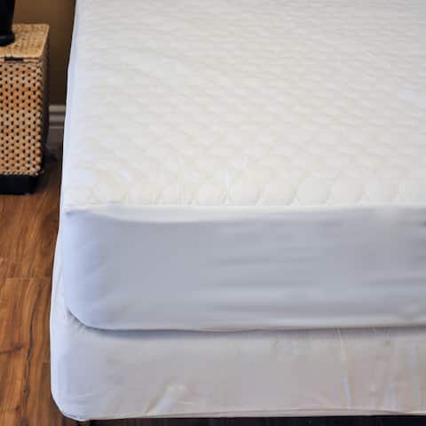 Natural Comfort Fitted Mattress Protector - White