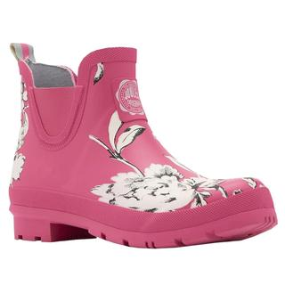 Joules Wellibob Women's Pink Floral Rubber Ankle Rain Boots