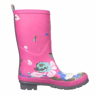 Joules Women's Molly Welly Pink Posy US Size 5 Mid-height Rain Boots