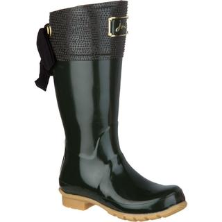 Joules Women's Evedon Welly Olive Rubber U.S. Size 8 Tall Rain Boots